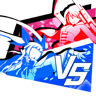 BlazBlue Cross Tag Battle Trophy Distortion Over Flowers.png