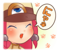 BlazBlue Blue Radio Sticker 045.png