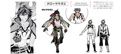 BlazBlue Taro Sasaga'e Model Sheet 01.png