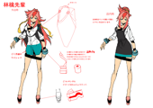 XBlaze Ringo Akagi Model Sheet 03.png