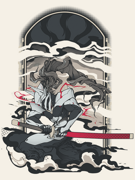 Eighty Sixed BlazBlue - Hakumen T-shirt.png