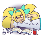 BlazBlue Blue Radio Sticker 029.png