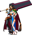 BlazBlue Central Fiction Kagura Mutsuki Sprite Intro 01.png